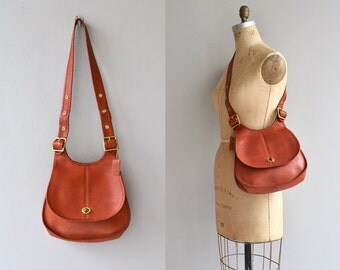 Bonnie Cashin Coach bag | orange leather Coach saddle bag | 1970s Coach bag
