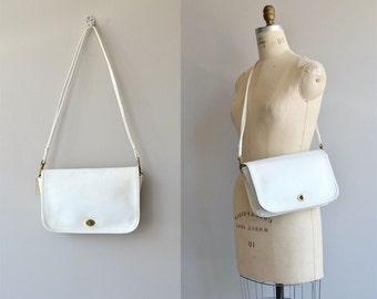 Coach shoulder bag | white leather Coach purse | white Coach bag