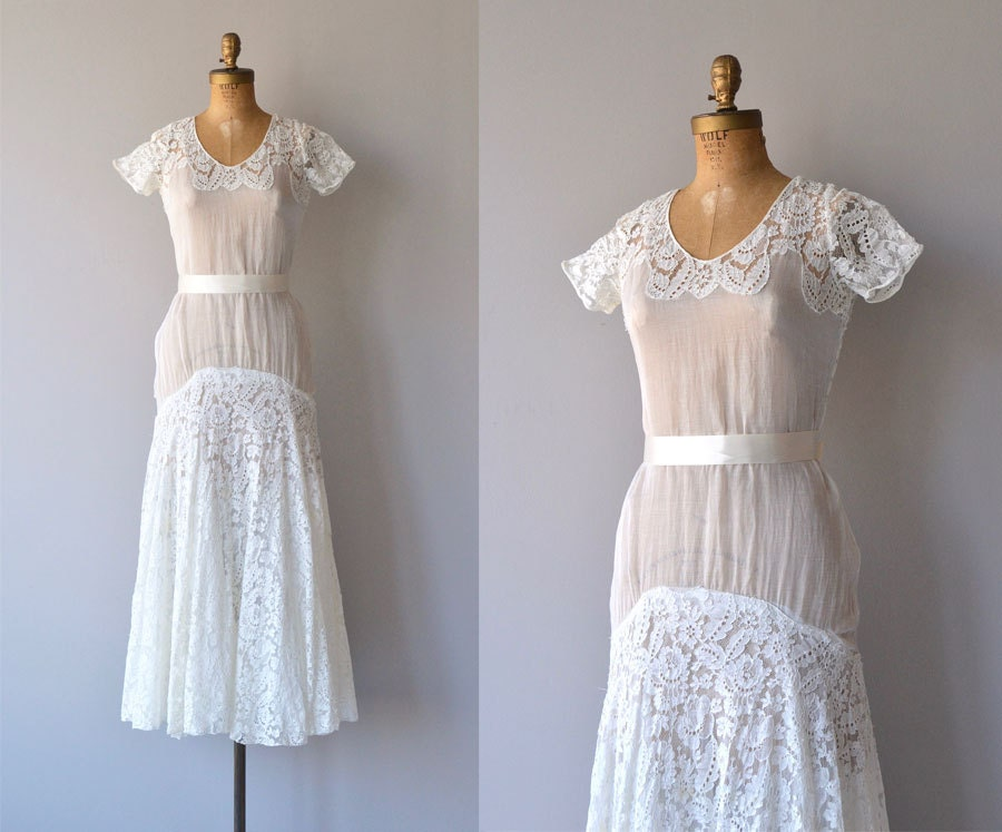 1930s Wedding Gowns: Lyall Wedding Gown 1930s Wedding Dress Lace 30s Wedding