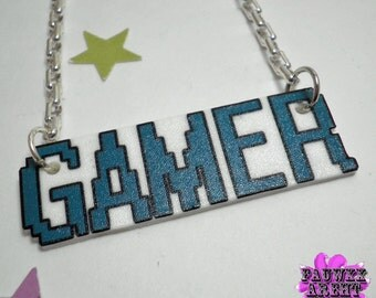 Turquoise Gamer Tag Necklace