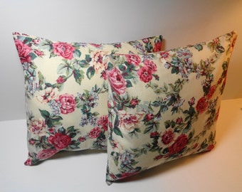 Pillow Covers Romantic Pink Floral Cases