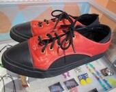 80s Womens REEBOK BOKS Red Leather Sneakers Mesh USA 7.5 Euro 38