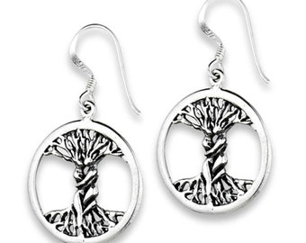 Tree of Life Earrings The Lovers 925 Sterling Silver Amulet Symbolic Charms
