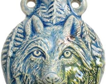 Oil Bottle Pendant Wolf Necklace perfume container 2 dram