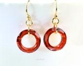 Red Moonlight Earrings