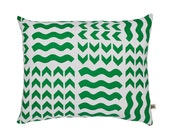 Lucknow Green/Turq Screen-Printed cushion
