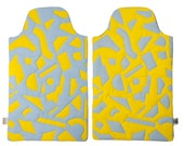 Radium Yellow/Sky Hot water bottle cover