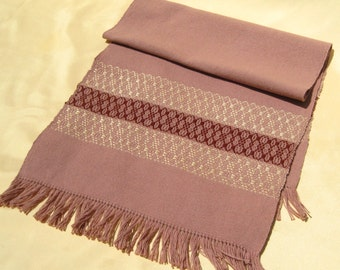 Hand Woven Brown and Gold Table Runner Hand Woven Dresser Scarf Buffet Scarf Hand Woven Coffee Table Runner Camel Gold and Brown Table Scarf