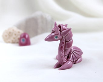 Tiny pink dragon -- Hand Made Ceramic Eco-Friendly Home Decor by studio Vishnya