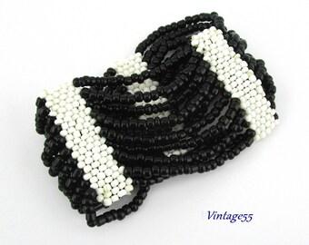 Bracelet Beaded Glass Swag Peyote Stitch