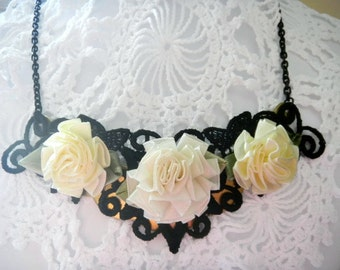 Satin Roses and Black Lace