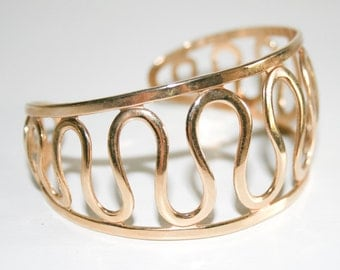 Golden Nile Sarah Coventry Cuff Bracelet