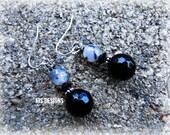 Sardonyx & Silver Earrings