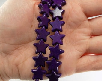 Purple Star Howlite Stone Beads - Sold by strand - #TURQ234