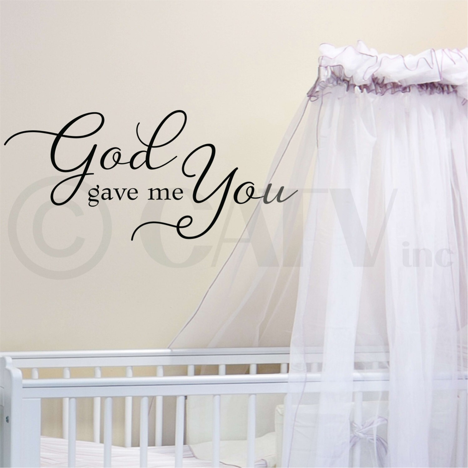 god gave me you customizable wall decal vinyl lettering saying zoom