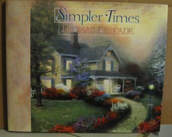 Thomas Kinkade Simpler Times Hardcover Book - 1996