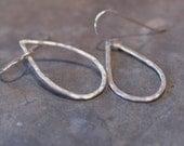 Rain drops - handmade sterling silver earrings