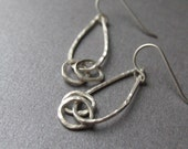 Raindrops with loops - handcrafted sterling silver earrings