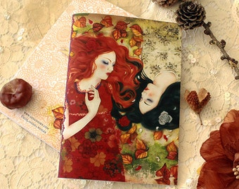 Illustrated notebook - Snow-White and Rose-Red