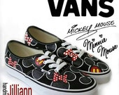 BLACK Minnie &/or Mickey Mouse Disney Vans! Or Toms.  -----  Childrens Sizes Available upon Request