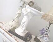 VALENTINE'S DAY * Vintage Cherub Compote * Shabby French Chic * Statue