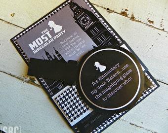 Sherlock Holmes Invitations...Set of 10 Sherlock Holmes Invitations