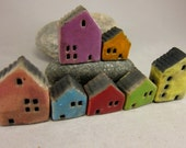 Candy Houses...Rustic Miniature Houses for Moss Terrariums or Pot Gardens