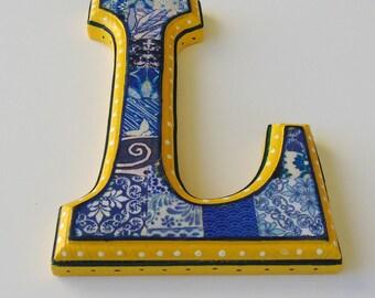 Nursery Wall letter, Deorative letter, Letter L