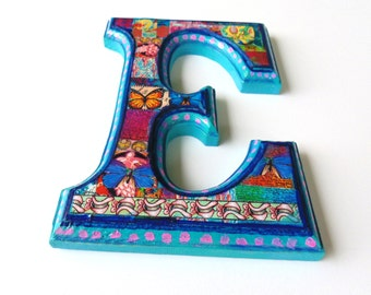Nursery wall Letter  E, Decorative Letter E, Wall Letter E