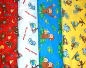 CURIOUS GEORGE #3  fabrics, sold individually,not as a group, sold by the Half Yard, please see body of listing