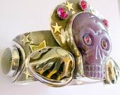 Dia de los Muertos Bracelet with Sugilite Skull