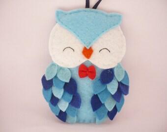Felt owl ornament - felt Christmas ornament - Christmas owl decoration