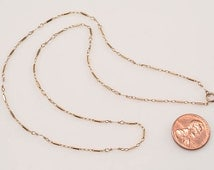 """14kt Yellow Gold Chain (2.4 grams) - 18"""" length:  Design combination of gold bar links and gold wire links"""