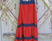 Sowing the seed of love - vintage hippie love child dress M L