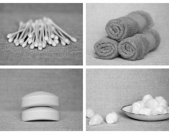 Black and White Bathroom Photo Set