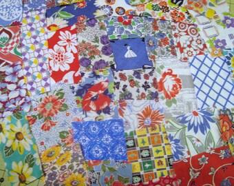 Sale Quilting Scraps, Quilting Fabric, Vintage Fabric, Feedsack Fabric, Feed Sack, Crafting Fabric,  Scraps, Fabric Assortment C