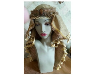 King head piece crown mantel Nativity Wise men youth adult gold amber Christmas child adult