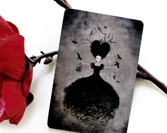30% Off Halloween Sale - La Sorcière Noire - Postcard