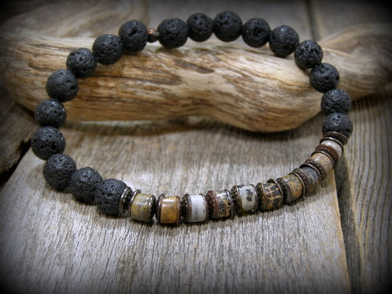 Mens beaded bracelet for men