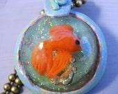 Goldfish Bubble Resin Necklace