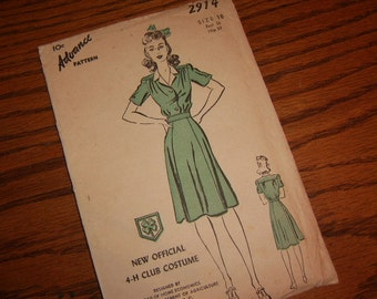 1940's Official 4-H Club Costume - Advance Pattern 2914