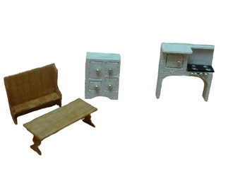 Clearance - 144th Inch Scale  Colonial Style Kitchen Furniture Kit