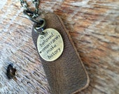 Long Indie Boho Quote Necklace - Well behaved women rarely make history