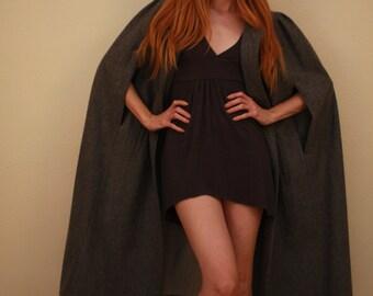 Long women's wool cape
