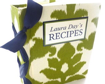 Recipe book -choose your own ribbon color-ready to ship