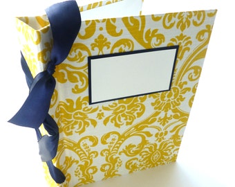 Scrapbook Abum 8.5x11-choose your own ribbon color-ready to ship