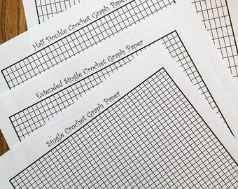 Tapestry Crochet Intarsia Graph Paper - Formatted for sc, exsc, hdc, and dc stitches