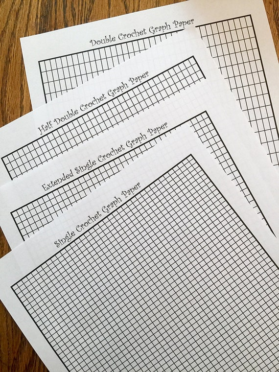 Tapestry Crochet Intarsia Graph Paper   Formatted For Sc, Exsc, Hdc, And Dc  Stitches From CrochetKitten On Etsy Studio