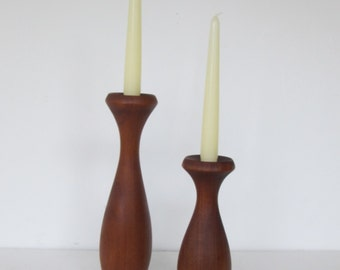 Modern Solid Wood Candlesticks