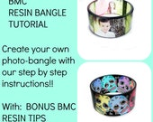 2 1/2 inch Photo bangle tutorial - COMES WITH: A mold and exact size template to lay out your design for our 2 1/2 inch chunky